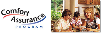 Image Of Family Sitting At Kitchen Table In Comfort Assurance Program HVAC Livonia -  D & G Heating & Cooling, Inc.